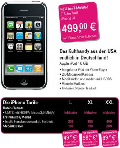 iPhone с 16 Гб и 3G скоро появится в Европе