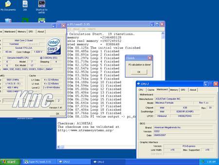 Intel Core 2 Extreme QX9650: рекорды в SuperPi и 3DMark
