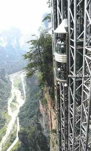Самый высокий стеклянный лифт в горах