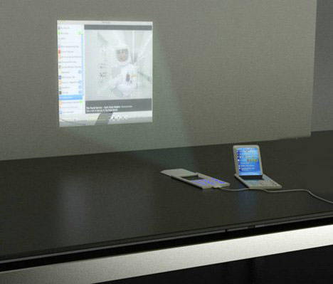 Концептуальный телефон с проектором