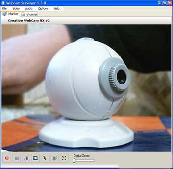 Webcam Surveyor 1.7.3 - работа с Web камерой