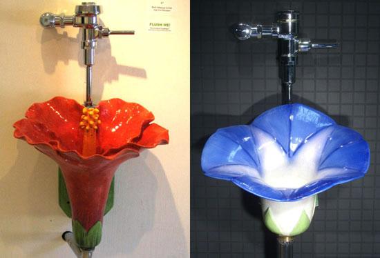 Писсуары-цветы