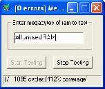 MemTest 3.3 - тестирование памяти