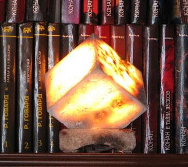 Сильвинитовые светильники - красиво и полезно