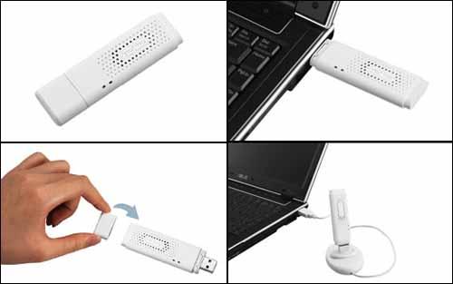 Внешний мини-адаптер ASUS для сетей Wi-Fi