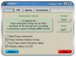 Fraps 2.9.4 - подсчет FPS в играх