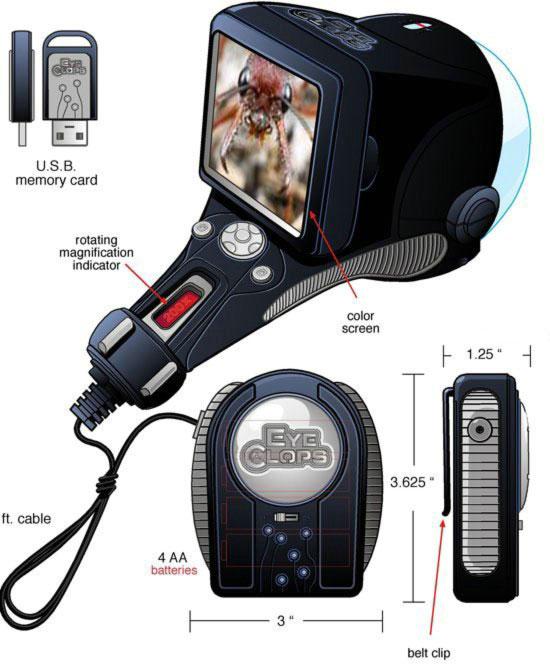 Портативный микроскоп с LCD-дисплеем