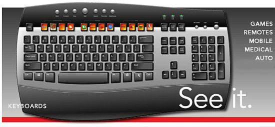 Еще одна клавиатура с OLED-клавишами