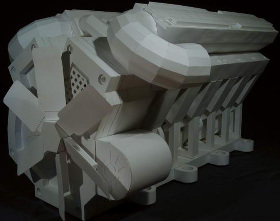 Потрясающий двигатель из бумаги