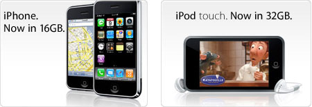 Apple: iPhone 16 GB и iPod touch 32 GB