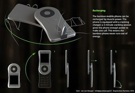 Bamboo - екологичный бамбуковый телефон