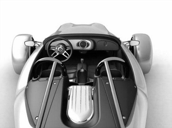 Трехколесный спорткар Cirbin V13R - бывший Харлей