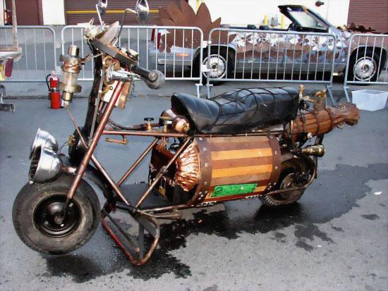 Электро-паровой мотоцикл