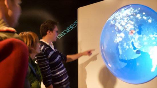 Концептуальный полусферический дисплей Sensisphere