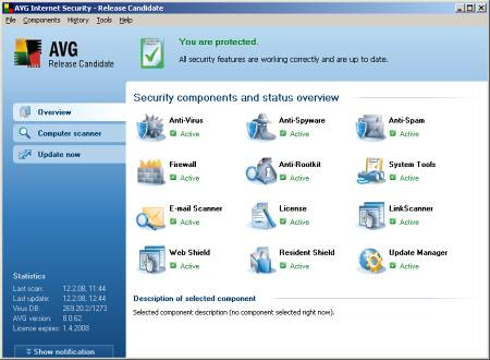 AVG Internet Security v.8.0.93a1300