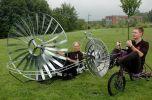 Изобретен ветряной велосипед
