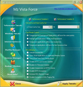Mz Vista Force v.2.1 - нвстройщик Wimdows Vista
