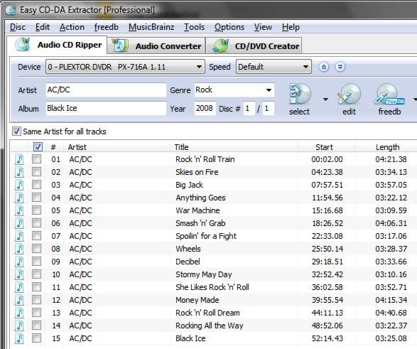 Easy CD-DA Extractor 12.0