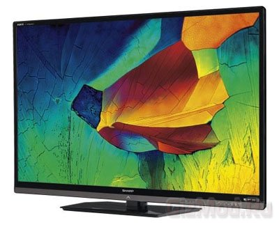 Sharp LE820 HDTV с технологией Quattron Quad Pixel