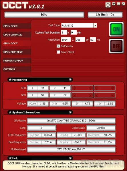 OCCT 4.0.0 Beta 3 - стресс тест компьютера