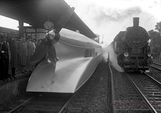 Немецкий аэролокомотив Schienenzeppelin