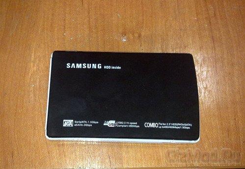 Внешний HDD Samsung на по-китайски