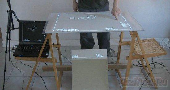 Самодельный мультисенсорный столик MTbiggie