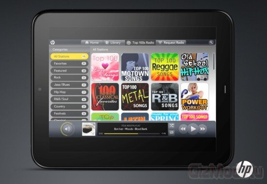 HP TouchPad будет включать музыкальный и видео магазин