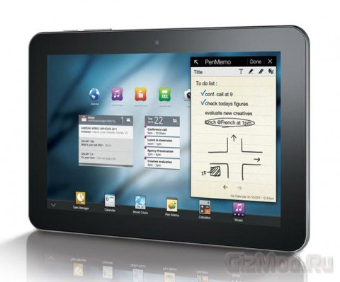 Samsung Galaxy Tab 8.9 на видео