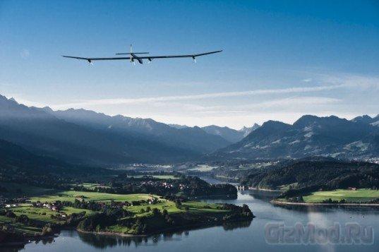 Первый международный рейс Solar Impulse