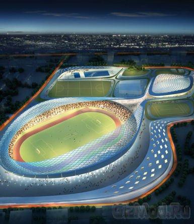 Экологичный спорткомплекс Athletic Ripple Project
