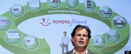 Сициальная сеть для автомобилей Toyota