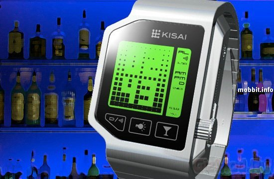 Наручные часы Tokyoflash с алкотестером