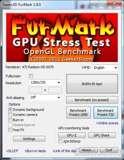 FurMark 1.9.1 - волосатый бублик