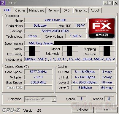 Разогнан флагманский процессор AMD Zambezi