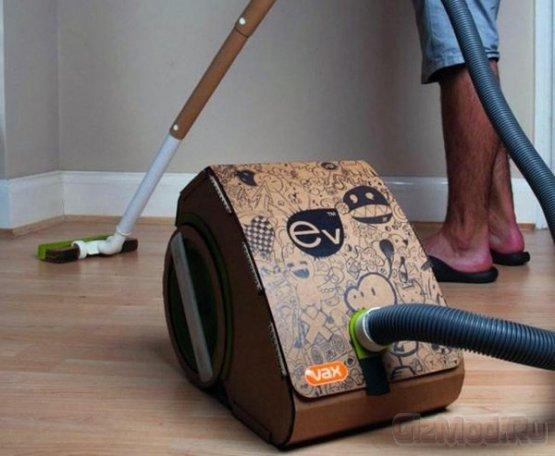 Британец создал пылесос из картонной упаковки