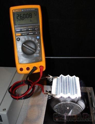 Прототип солнечной батареи на бумаге
