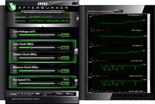 MSI Afterburner 2.2.2 - разгон видеокарты