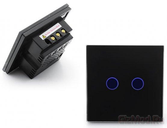 Бытовой сенсорный выключатель Double Gang Touch