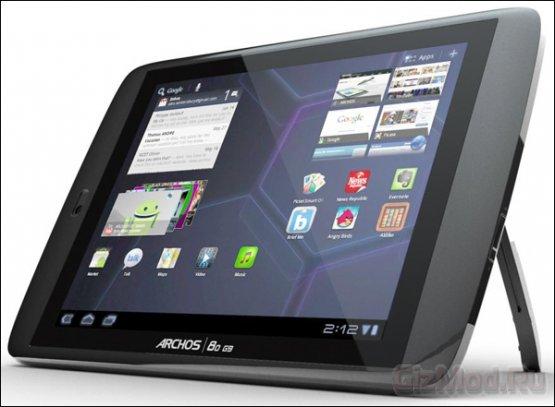 Новый планшет Archos с 250-Гбайт HDD