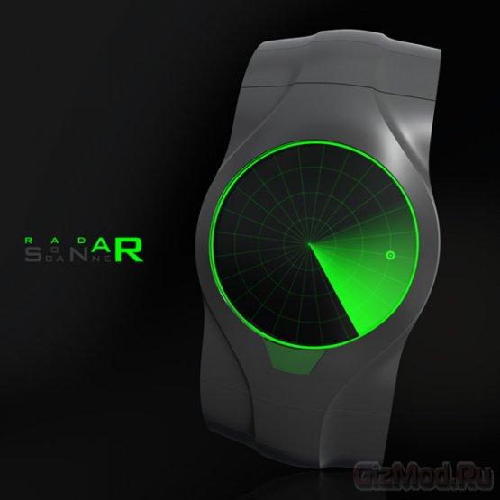 Концепты Sonar Watch - сканер времени на руке