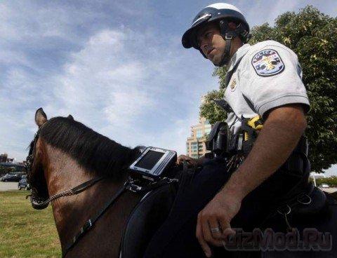 Полицейских лошадей оснастили планшетами