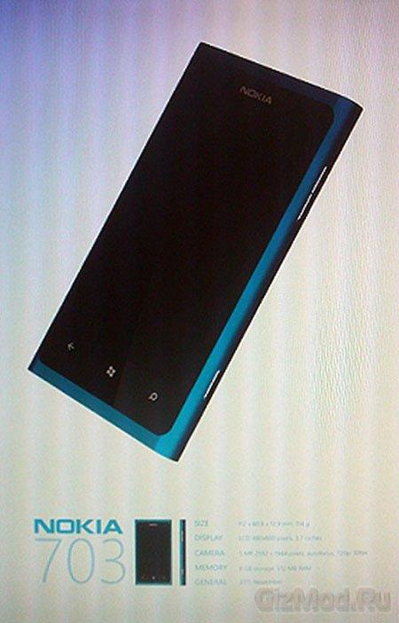 Nokia 703: первые подробности