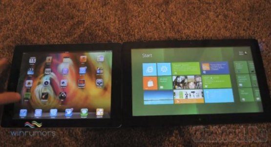 iPad 2 c iOS 5 в сравнении с планшетом Windows 8