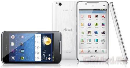 Pantech Vega LTE с разрешением дисплея 720р