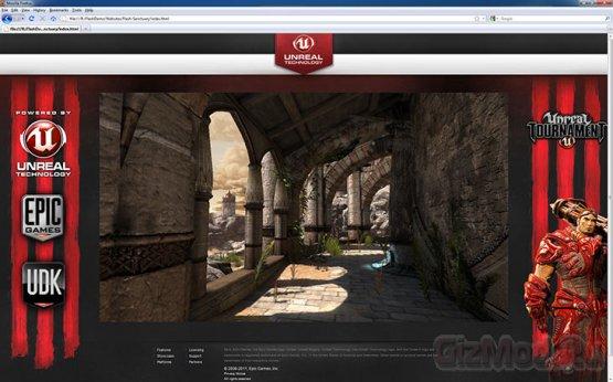 Игровой движок Unreal Engine 3 переехал на Flash