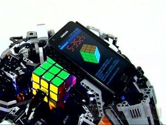 Робот из Лего побил рекорд по сборке кубика Рубика