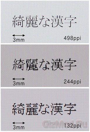 Дисплей Toshiba с разрешением 498 точек на дюйм
