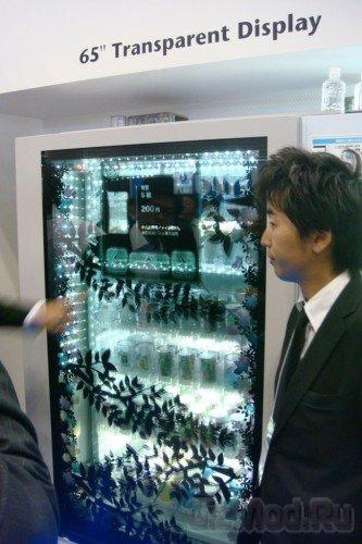 Веселый торговый автомат с прозрачным дисплеем