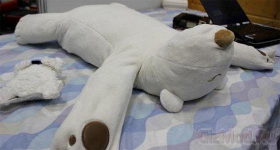 Подушка-робот Jukusui-kun не дает храпеть